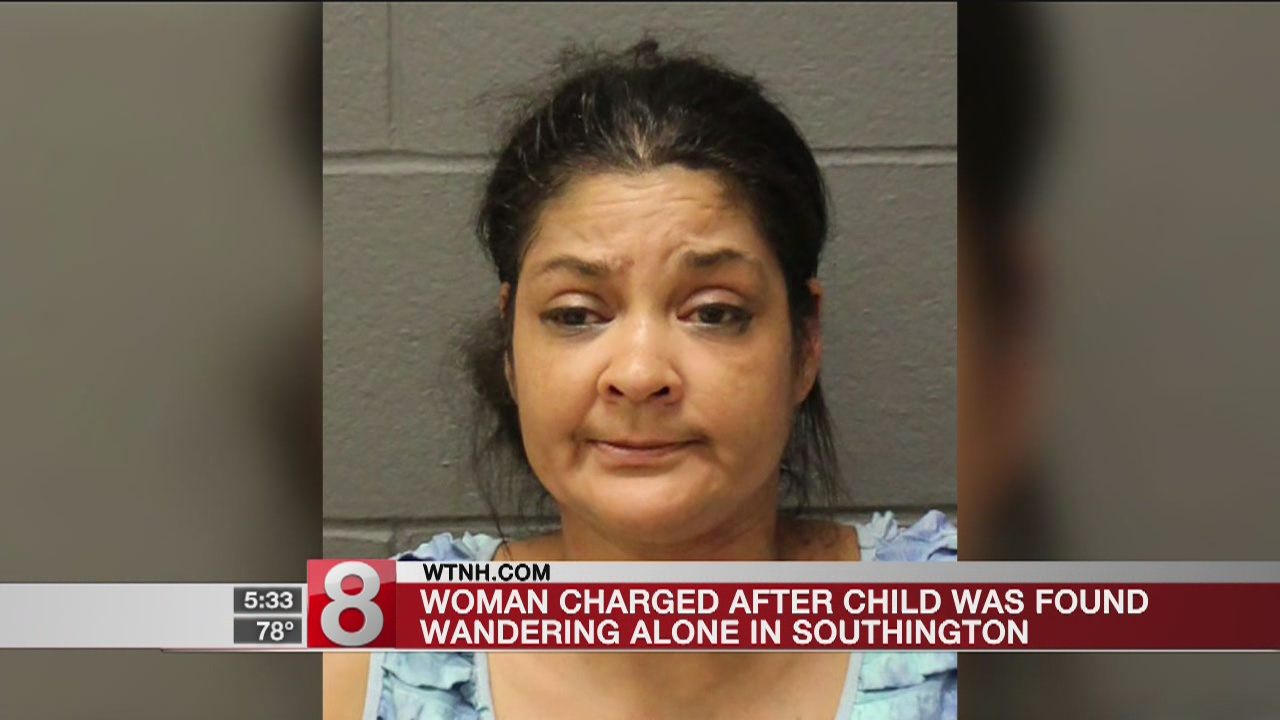 Woman charged after child found wandering alone in Southington