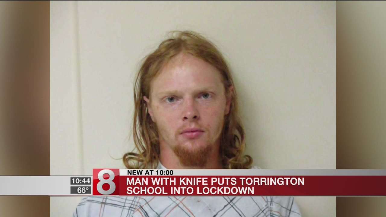 Man arrested after Torrington school lockdown and scuffle with police