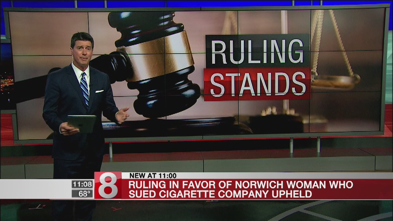 Court upholds $28M verdict in Connecticut smoker case