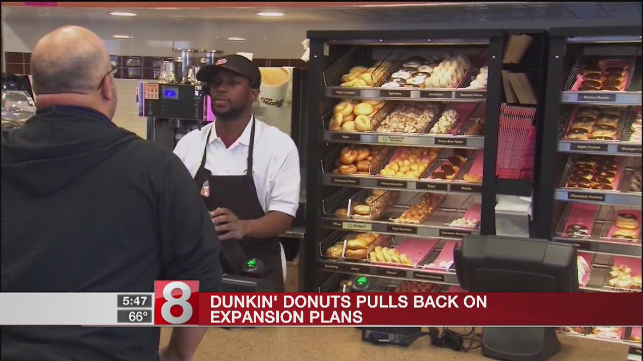 Dunkin' Donuts drastically scales back expansion plans
