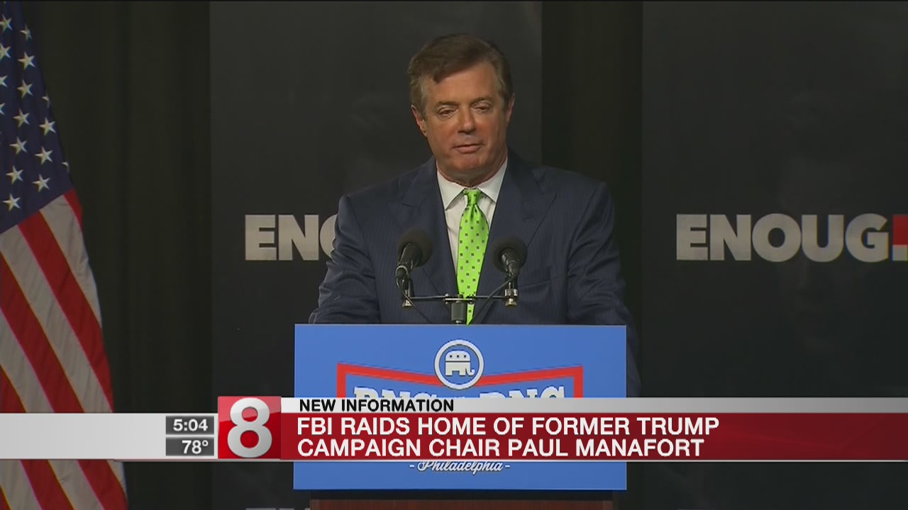 FBI agents searched former Trump campaign chair's home