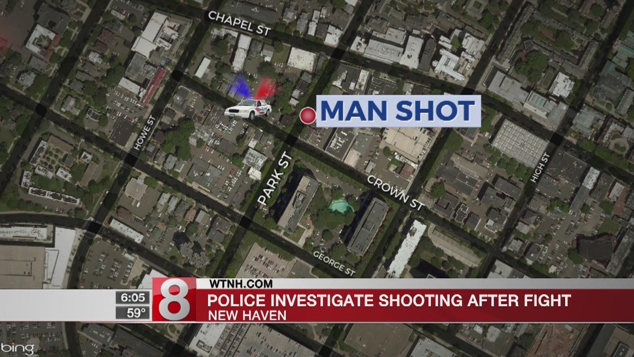 Shooting near New Haven restaurant injures man
