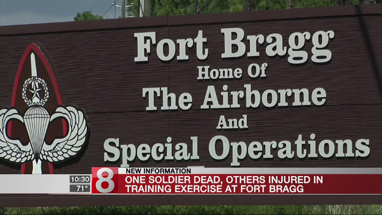 1 soldier killed, 7 injured in Fort Bragg training exercise