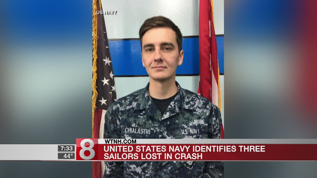 US sailors missing in the Philippine Sea identified