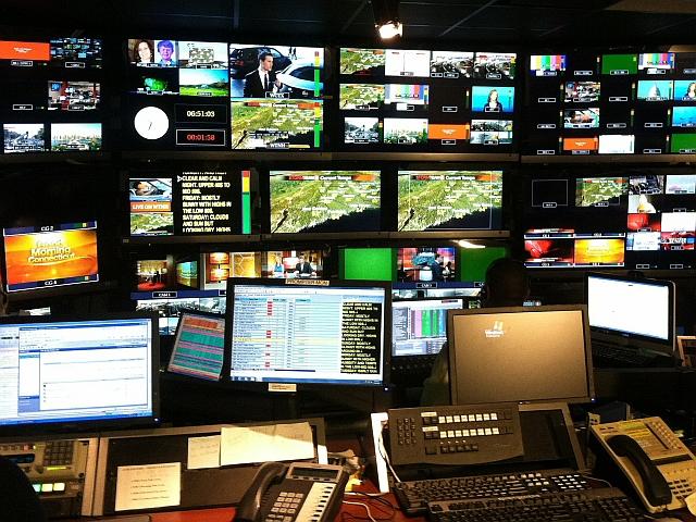 WTNH News 8 Control Room