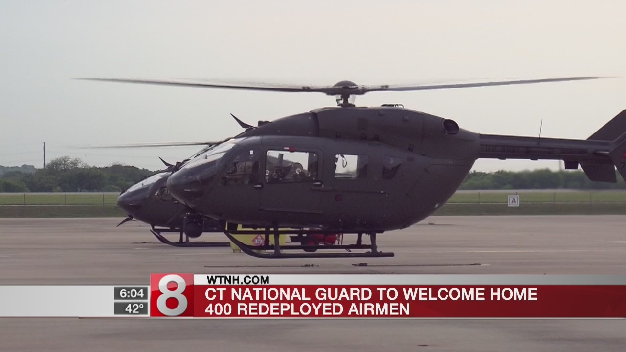 Connecticut National Guard to welcome home re-deployed airmen