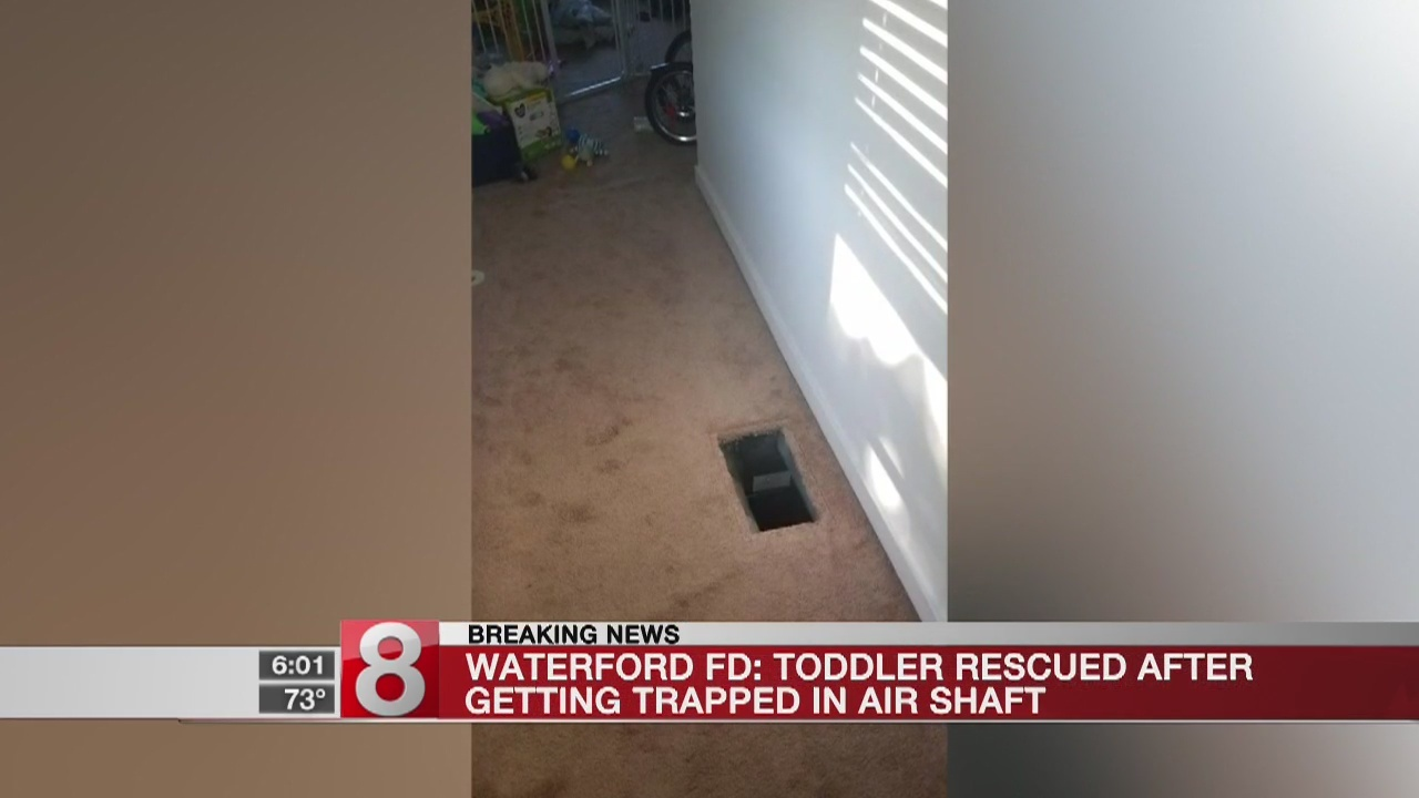 Waterford baby rescued after falling down ventilation shaft