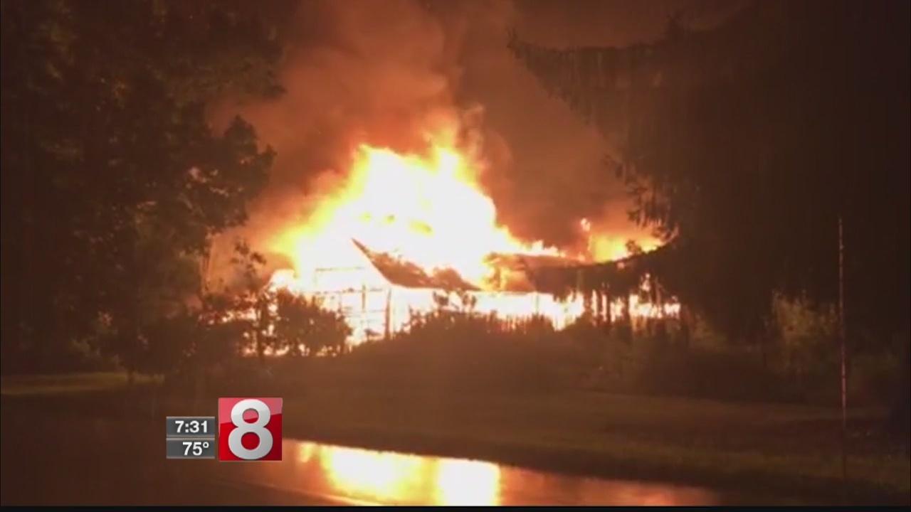 Barn destroyed in East Windsor fire