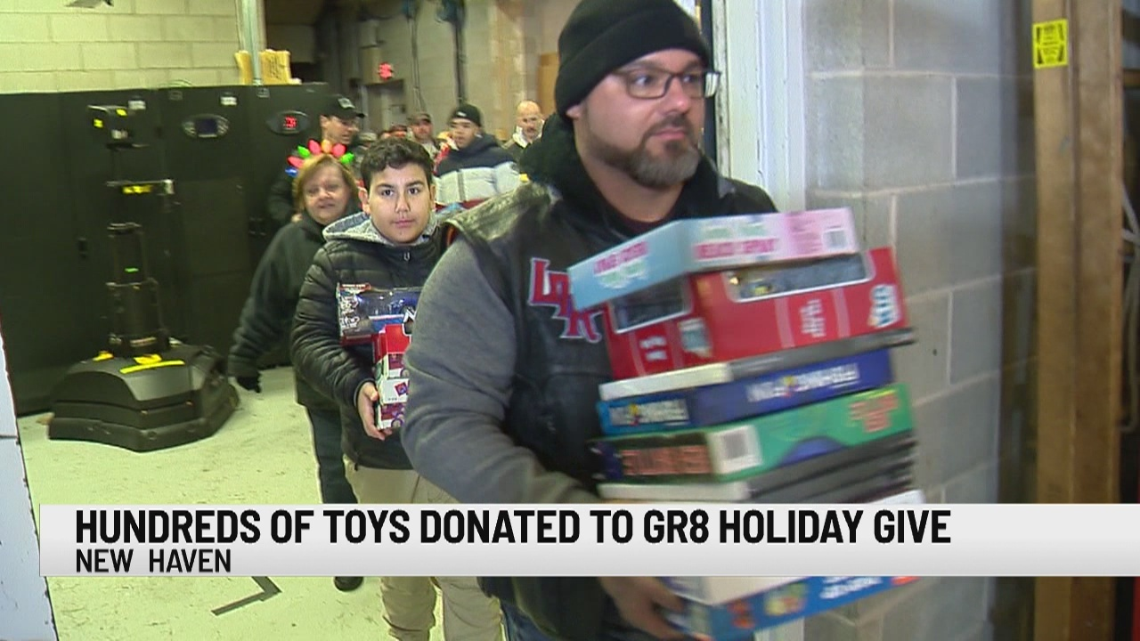 Toy caravan delivers hundreds of toys to News 8