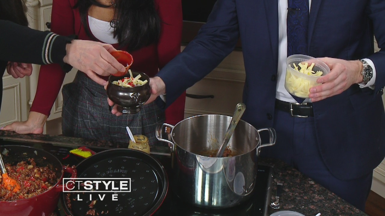 In The Bender Kitchen: Chef Angela Baldanza makes red rice vegetarian/ vegan chili