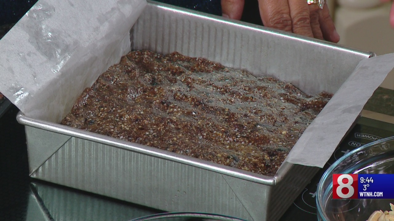 Jillian Simms makes blueberry almond quinoa bars
