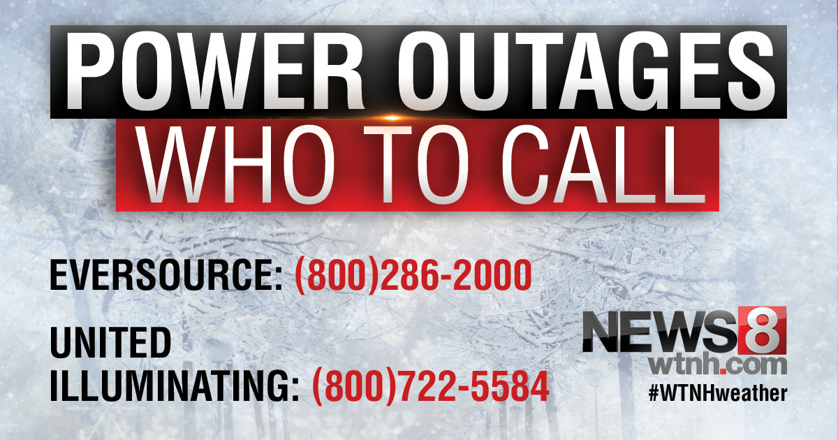 More than 1,100 outages reported across Connecticut
