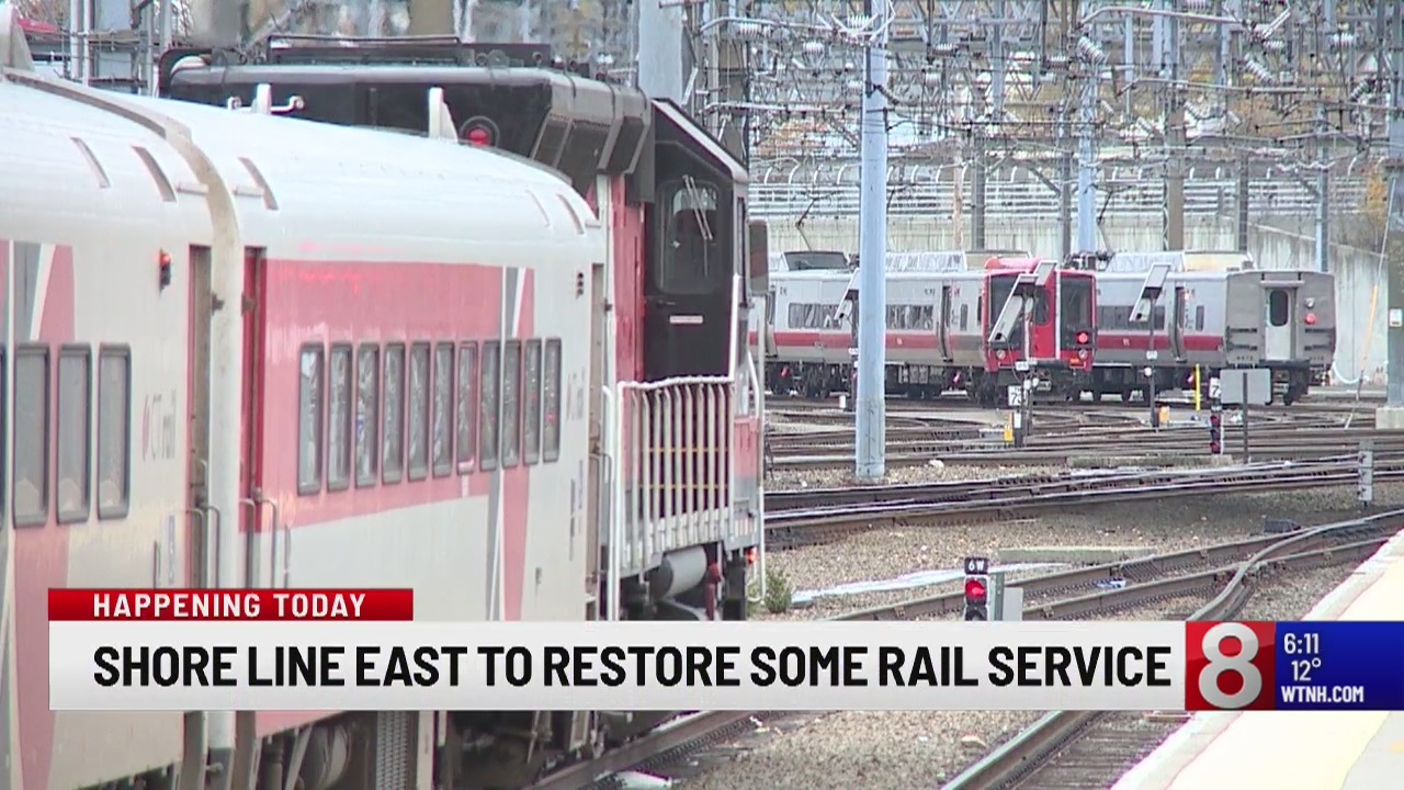 Shore Line East commuters back on track with some rail service restored