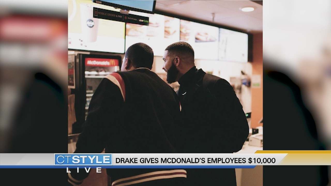 Today's Dish: Drake surprises two McDonald's employees