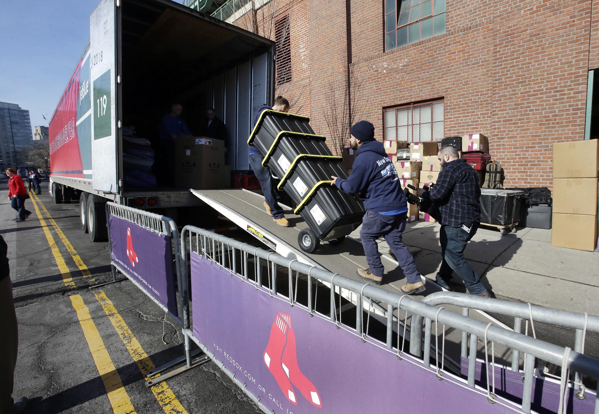 Red Sox Truck Baseball Spring Training MLB