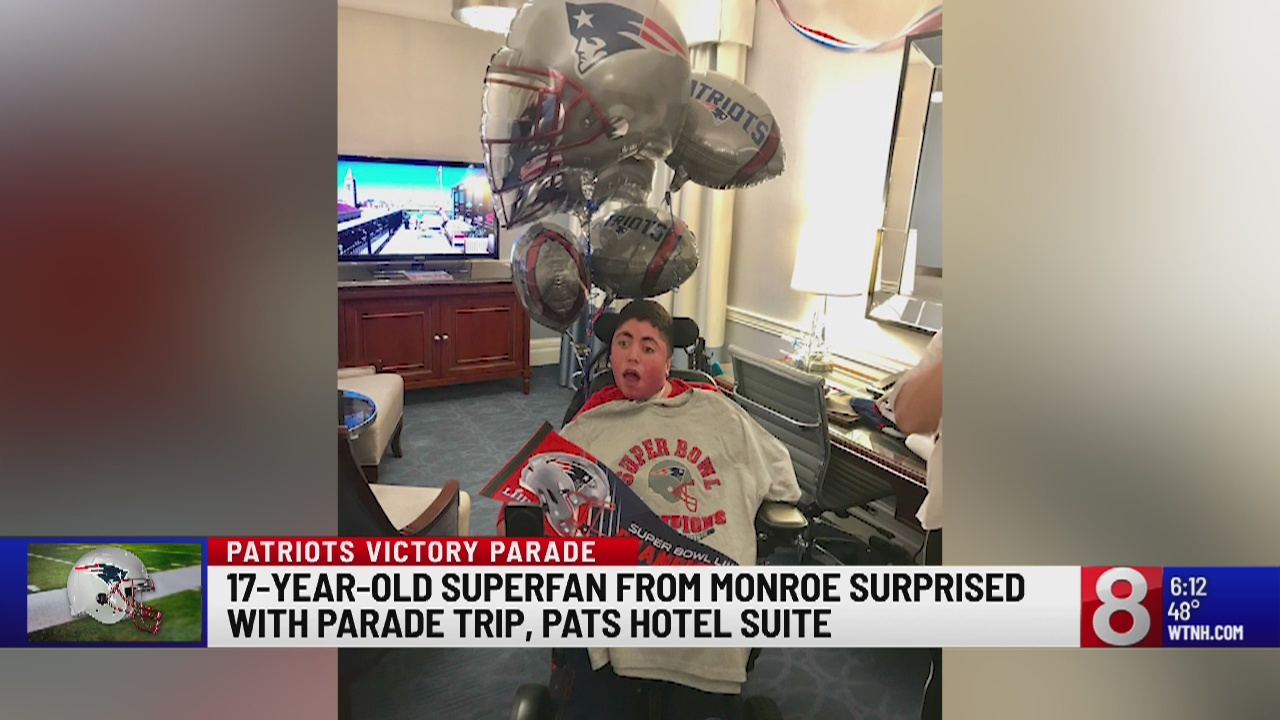Boston hotel surprises Monroe teen with Patriots-themed room