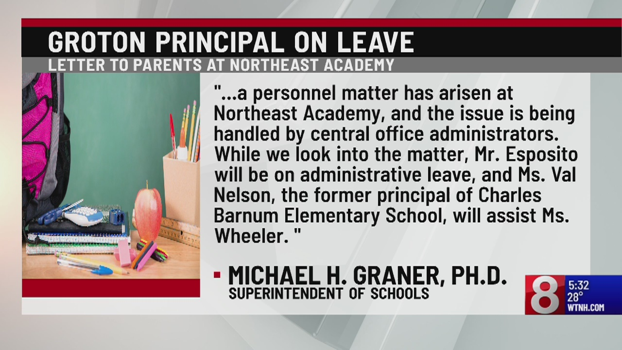 Groton principal placed on administrative leave