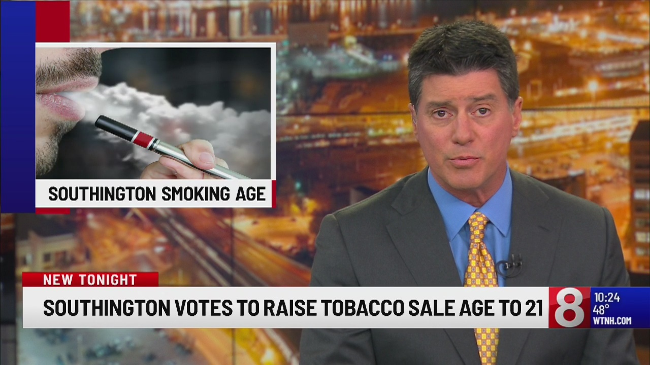Southington votes to raise tobacco sale age to 21