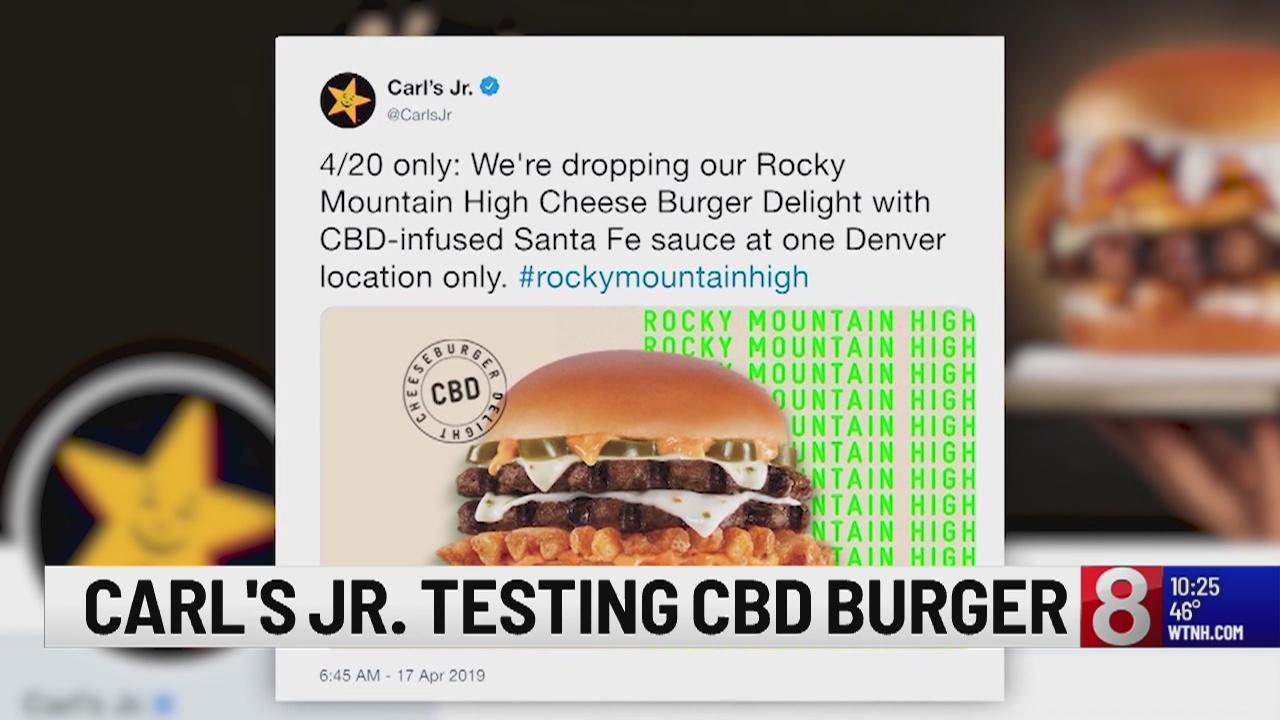 Carl's Jr. in Denver testing out CBD infused burger on 4/20