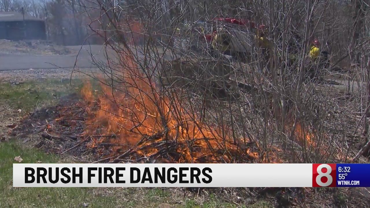 Crews around Connecticut battle flames in heart of brush fire season