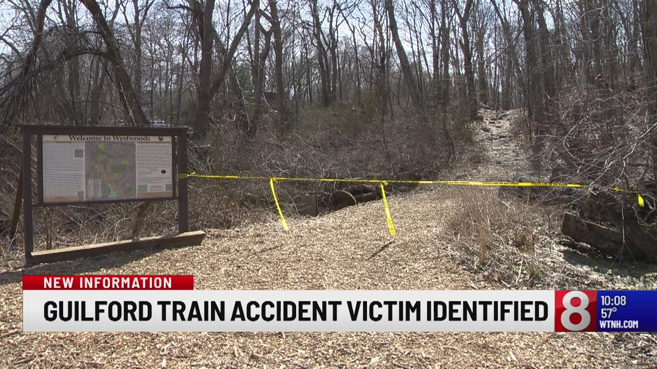 Guilford police identify victim of deadly train accident