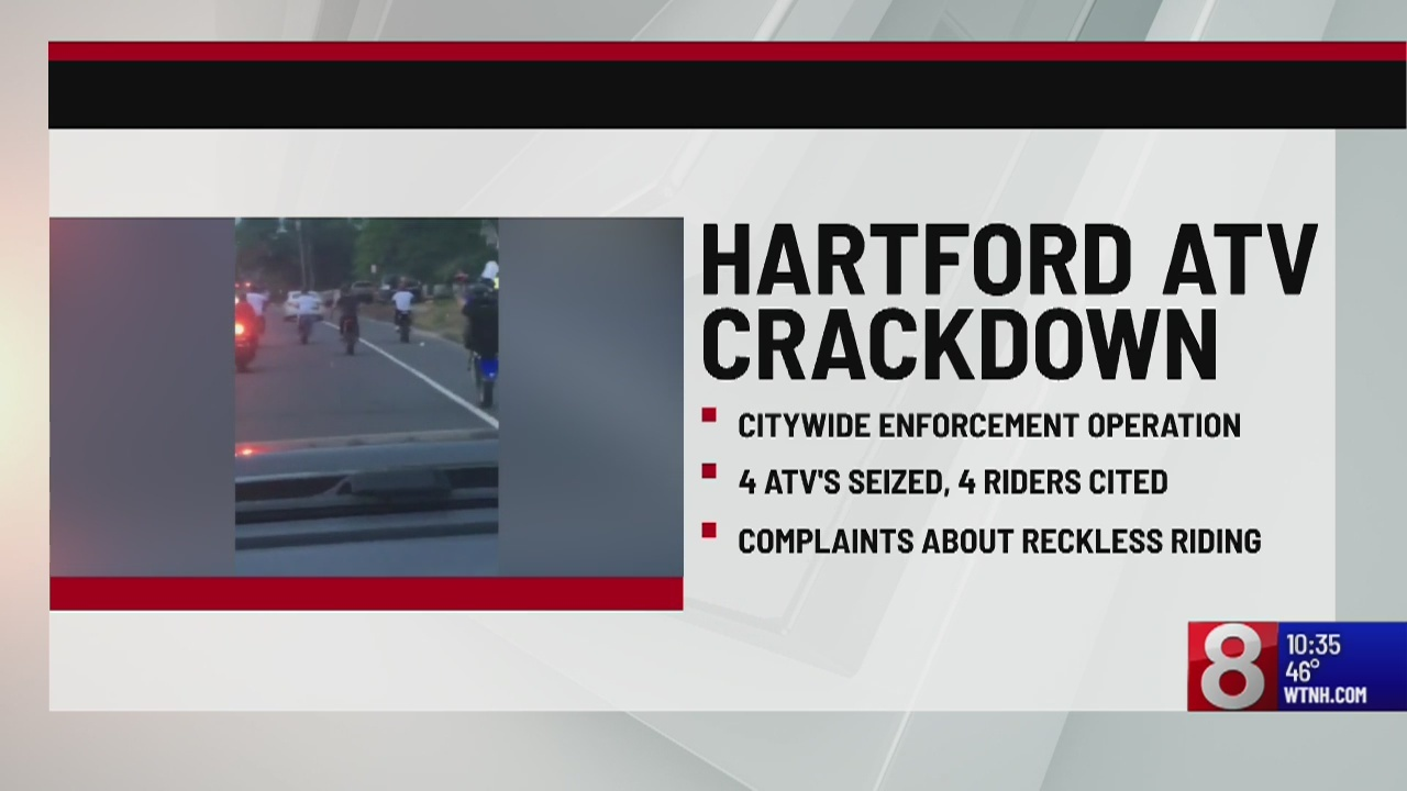 Hartford PD cracks down on illegal ATV riders
