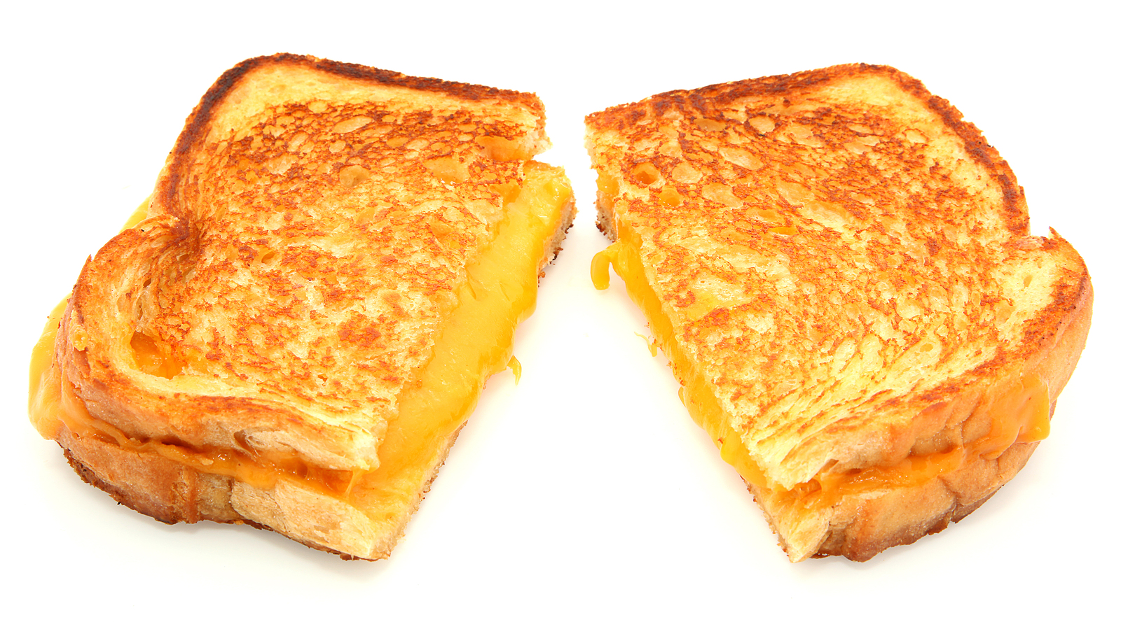 Grilled Cheese Sandwich Isolated On White_1523519893289
