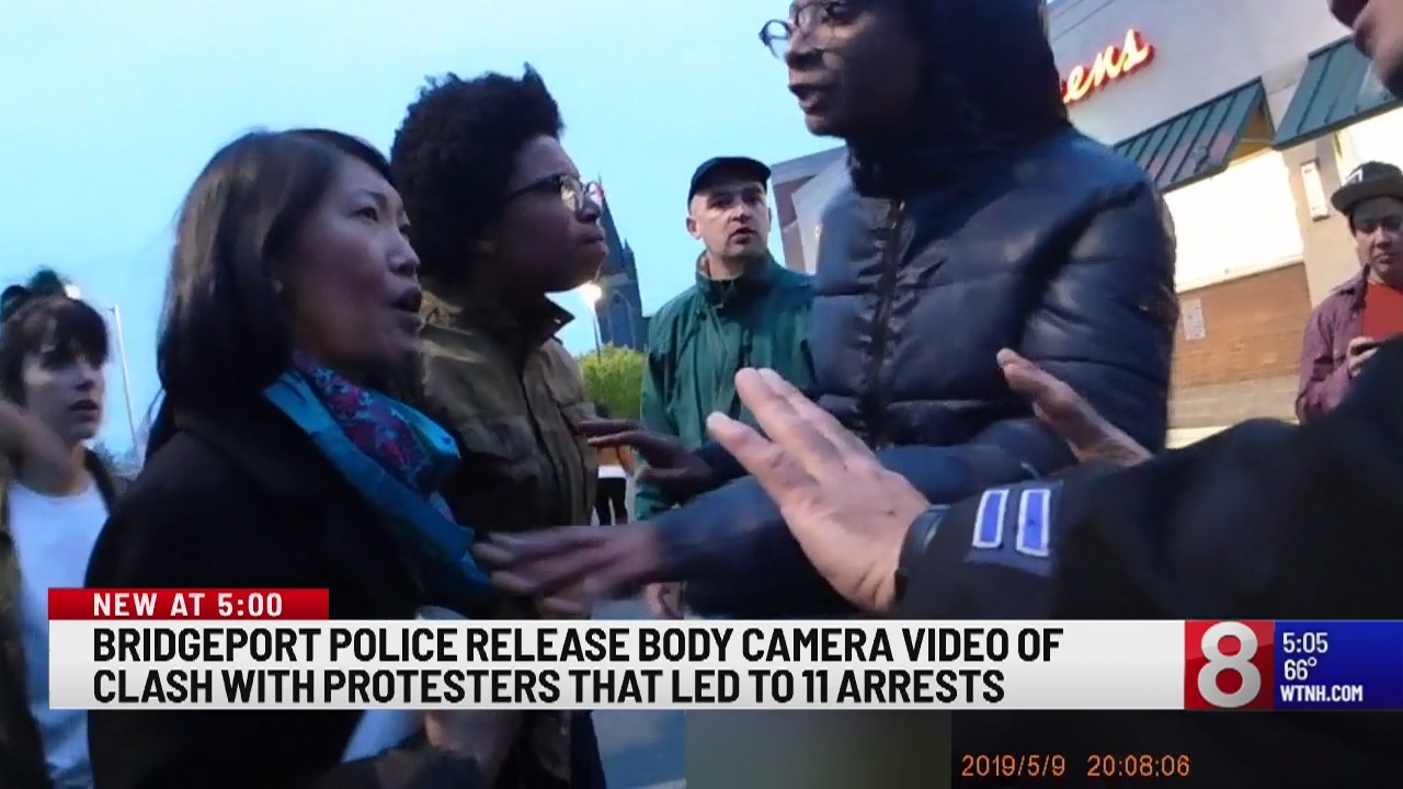 Body cam footage released from Bridgeport memorial that escalated into protest