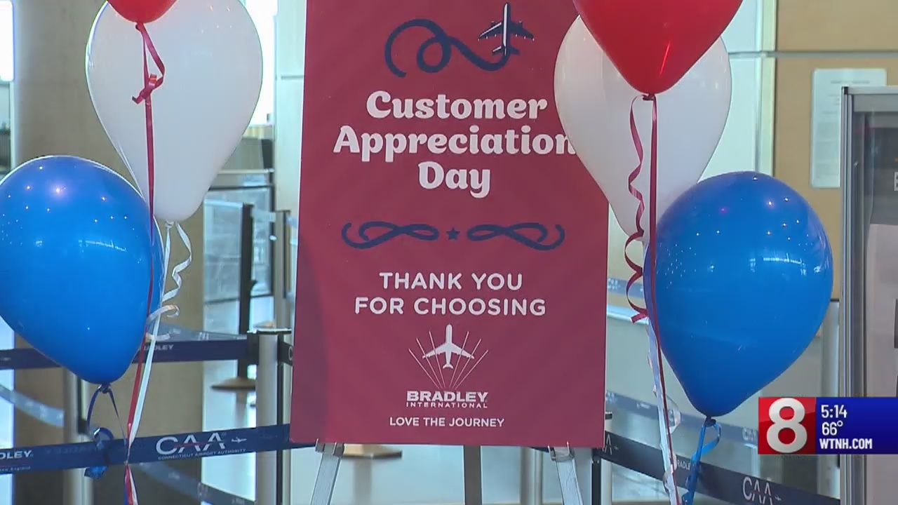 Bradley International Airport thanking flyers, looking ahead to future