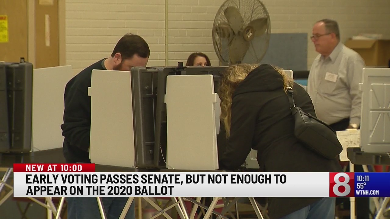 Early voting passes senate, but not enough to appear in the 2020 ballot