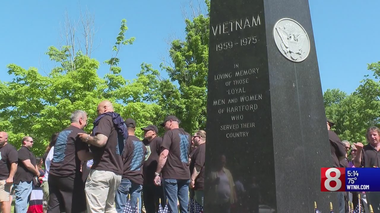 Hartford hosts Vietnam Veterans Memorial for Memorial Day