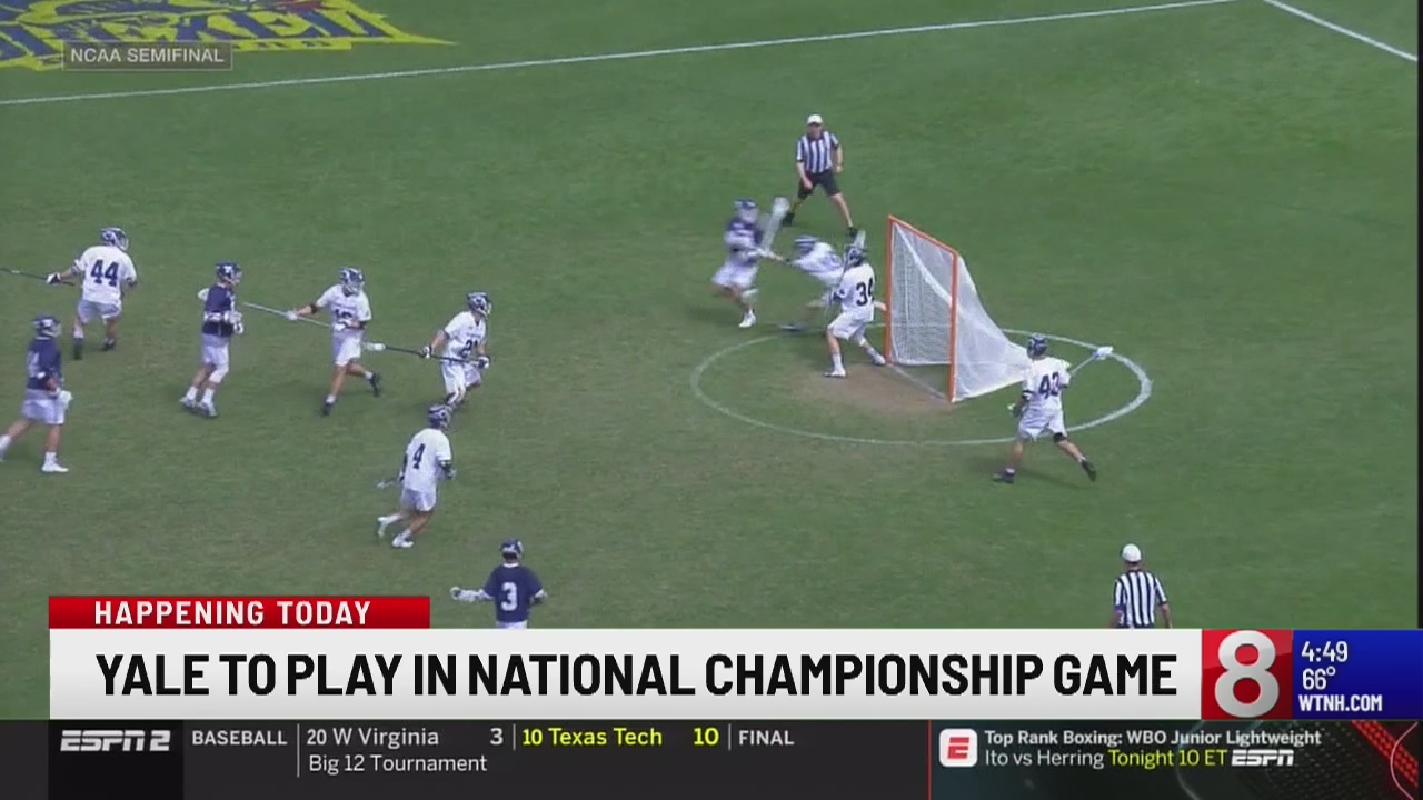 Yale lacrosse seeking 2nd straight national title Monday