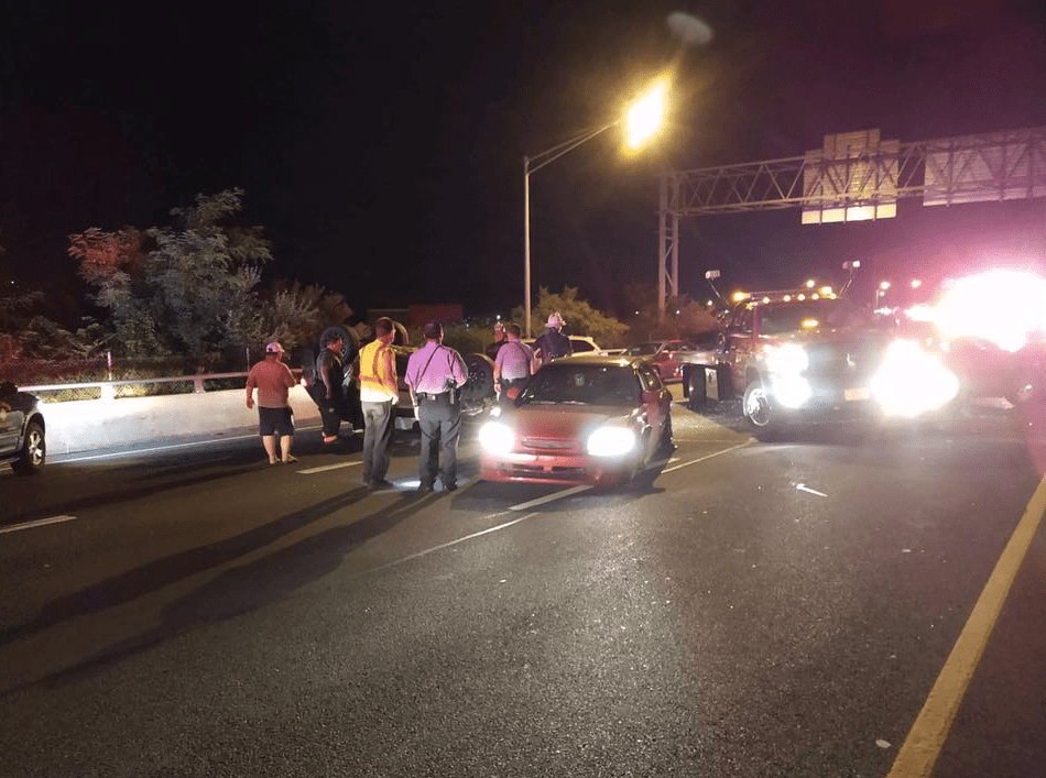 Three-car accident on Route 8 sends four to hospitals