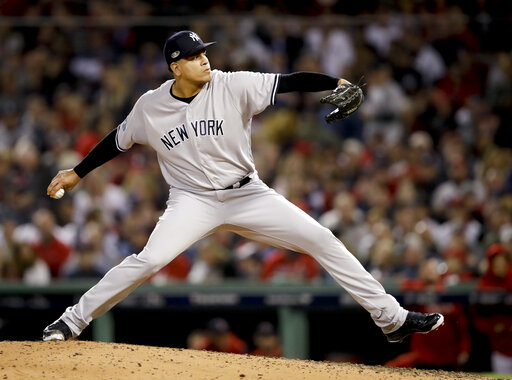 online store 9a1f3 cbc7d Dellin Betances tore Achilles in return to Yankees | WTNH.com