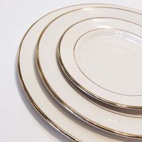 Gold Rimmed Dinner Plate  What's the Occasion