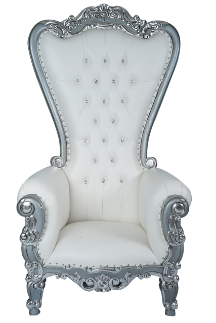 Silver  Royal Throne Chairs  Whats the Occasion