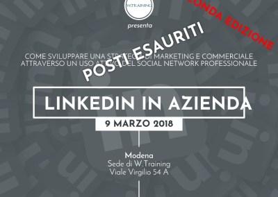 Linkedin in azienda – SECONDA EDIZIONE