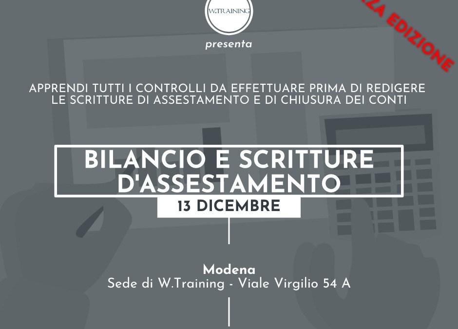 Bilancio e scritture d'assestamento – terza edizione