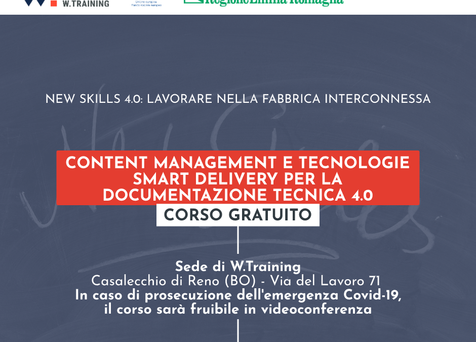 CONTENT MANAGEMENT E TECNOLOGIE SMART DELIVERY PER LA DOCUMENTAZIONE TECNICA 4.0