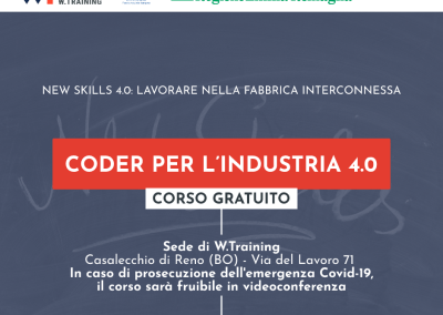 CODER PER L'INDUSTRIA 4.0