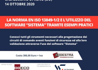 """LA NORMA EN ISO 13849-1/2 E L'UTILIZZO DEL SOFTWARE """"SISTEMA"""" TRAMITE ESEMPI PRATICI"""