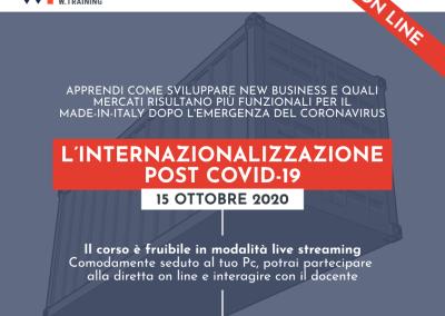 L'INTERNAZIONALIZZAZIONE POST COVID-19