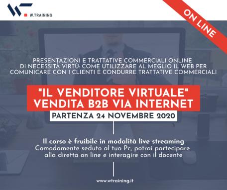 """""""IL VENDITORE VIRTUALE"""" – VENDITA B2B VIA INTERNET – terza edizione"""