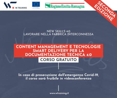 CONTENT MANAGEMENT E TECNOLOGIE SMART DELIVERY PER LA DOCUMENTAZIONE TECNICA 4.0 – SECONDA EDIZIONE