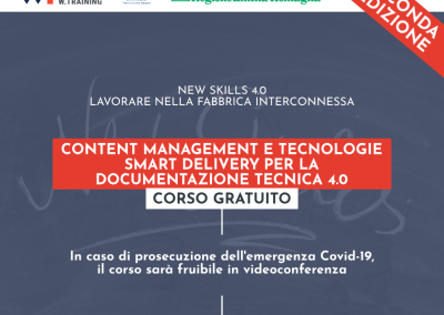 CONTENT MANAGEMENT E TECNOLOGIE SMART DELIVERY PER LA DOCUMENTAZIONE TECNICA 4.0 – SECONDA EDIZIONE