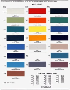 Enlarge click to looking for more useful color codes also chevy colors rh wtv zone