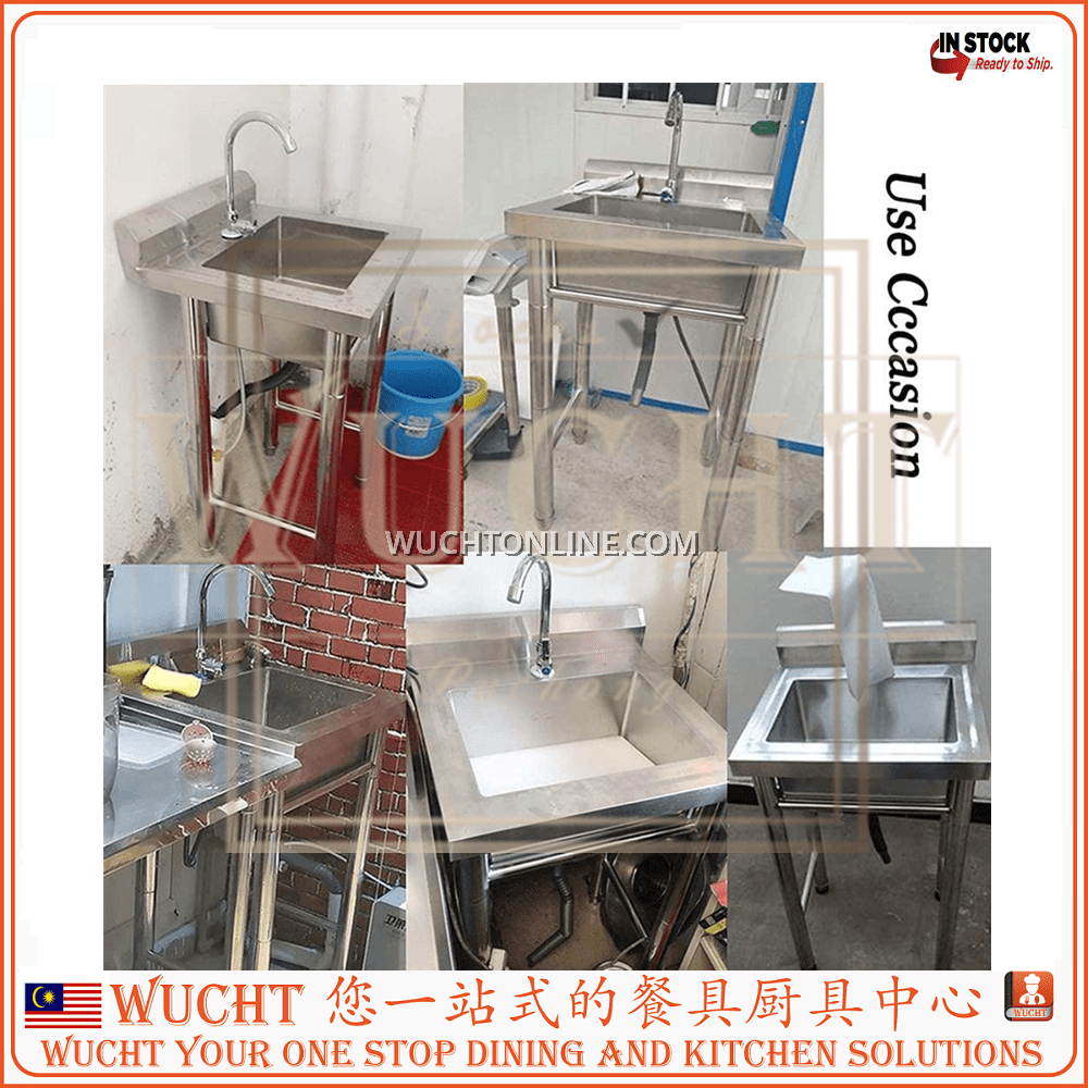 wucht 4 feet commercial stainless steel sink 120cm floor standing double sink portable sink pool free standing utility sink for garage restaurant