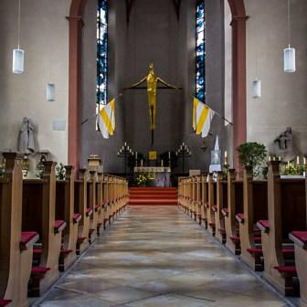 Blick in die Kirche St. Gertraud.