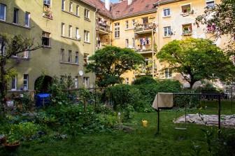 "Blick in den Innenhof des ""unteren Denckler"" im Herbst 2013."
