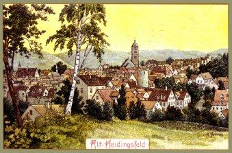 Heidingsfeld 1911: Blick von Jahnhöhe